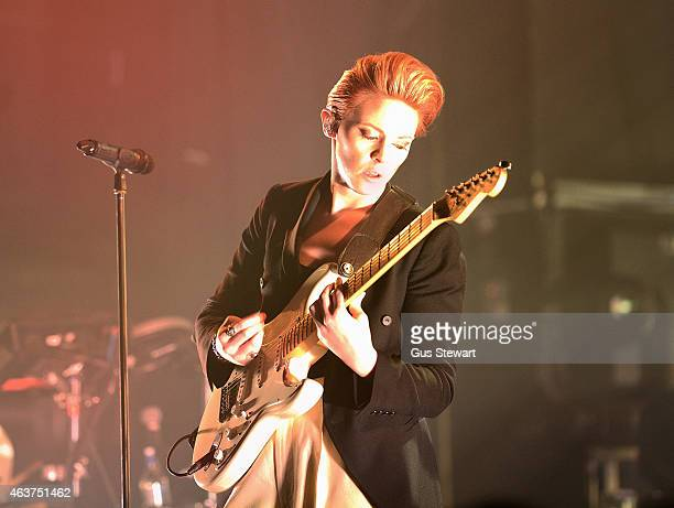 Elly Jackson of La Roux performs on stage at NME Awards Show at KOKO on February 3 2015 in London United Kingdom