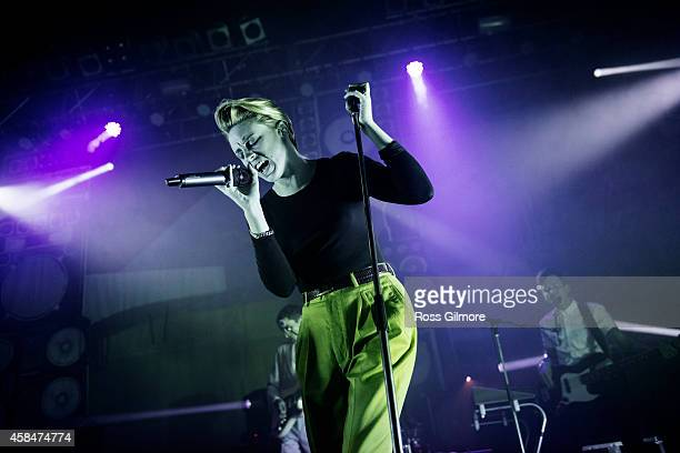 Elly Jackson of La Roux performs on stage at O2 ABC on November 5 2014 in Glasgow United Kingdom