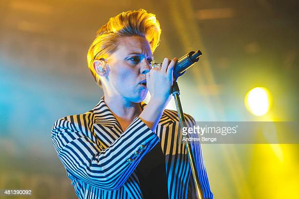Elly Jackson of La Roux performs on the 6 Music Stage at Latitude Festival on July 19 2015 in Southwold United Kingdom