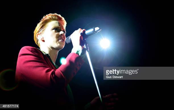 Elly Jackson of La Roux performs the group's first London gig in four years at Conway Hall on July 1 2014 in London United Kingdom