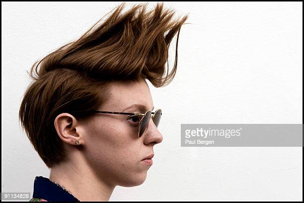 Elly Jackson of La Roux poses for a portrait session on July 16th 2009 in Amsterdam Netherlands