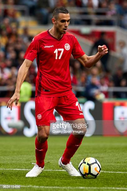 Ellyes Skhiri of Tunisia in action during the friendly match of preparation for FIFA 2018 World Cup between Portugal and Tunisia at the Estadio AXA...