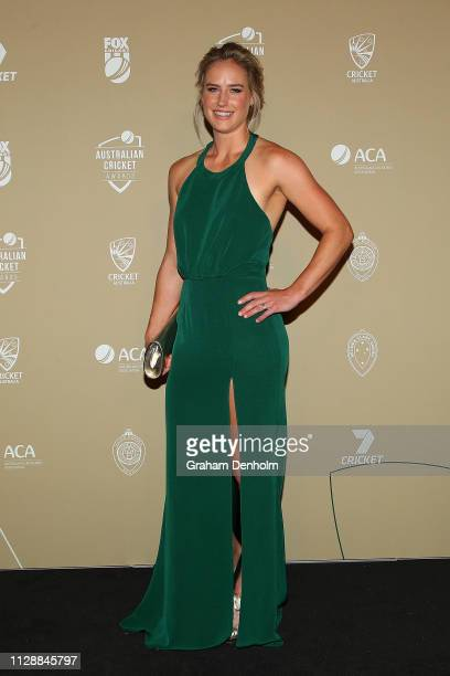 Ellyse Perry attends the 2019 Australian Cricket Awards at Crown Palladium on February 11 2019 in Melbourne Australia