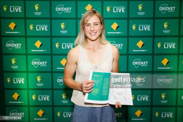 """Ellyse Perry during the Cricket Australia Corinne Hall """"Victress"""" Book Launch at Sydney Cricket Ground on February 20 2020 in Sydney Australia"""