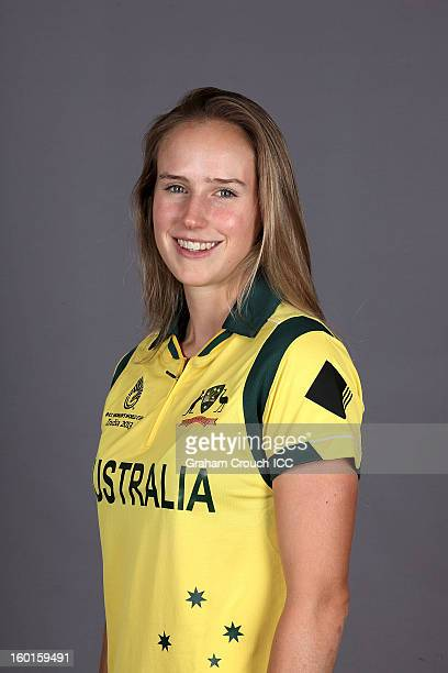 Ellyse Perry of Australia attends a portrait session ahead of the ICC Womens World Cup 2013 at the Taj Mahal Palace Hotel on January 27, 2013 in...