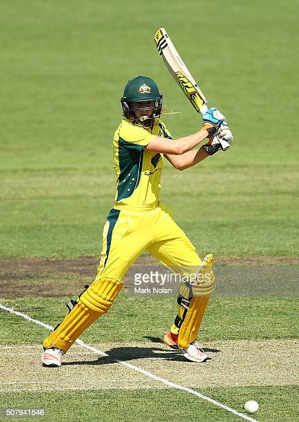 Ellyse Perry Of Australia Bats During Game One The Womens ODI Series Between And