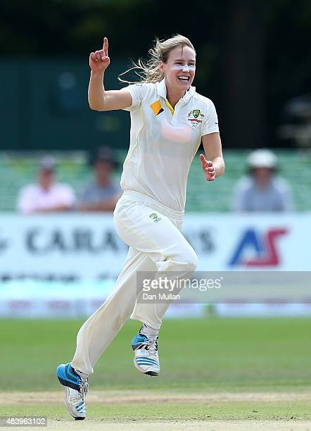 Ellyse Perry Of Australia Celebrates Taking The Wicket Sarah Taylor England During Day Four