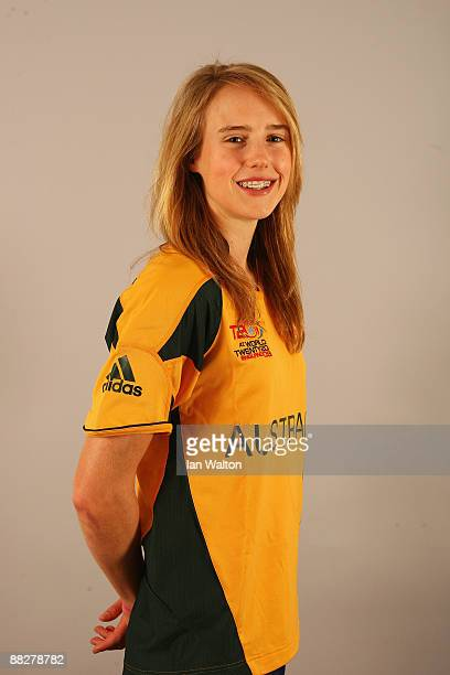 Ellyse Perry of Australia poses for a portrait prior to the ICC Womens World Twenty20 at Holiday Inn Express on June 7 2009 in Taunton England