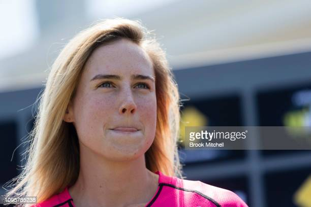 Ellyse Perry of the Sydney Sixers is pictured during the Women's Big Bash League media opportunity at Drummoyne Oval on January 18 2019 in Sydney...