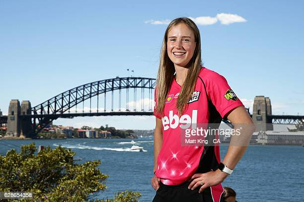 Ellyse Perry of the Sydney Sixers poses during the Women's Big Bash League 2016/17 Season launch at Goat Island on December 9 2016 in Sydney Australia