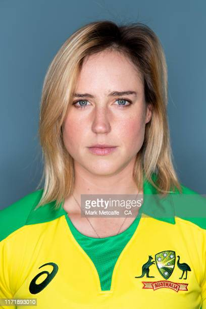 Ellyse Perry poses during the Cricket Australia Women's National Portrait Session at NEP Studios on August 15 2019 in Sydney Australia