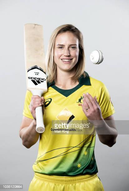 Ellyse Perry poses during the Cricket Australia Women's National Squad Player Camp on September 13 2018 in Sydney Australia