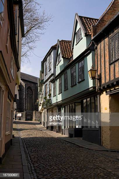 elm hill, norwich - norwich england stock pictures, royalty-free photos & images