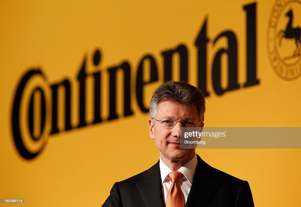 Elmar Degenhart, chief executive officer of Continental AG, poses for a photograph ahead of a news conference to announce earnings in Frankfurt, Germany, on Thursday, March 7, 2013. Continental AG, Europe's second-largest maker of auto parts, stuck with its 2013 forecasts even as the region's auto market declines in the first quarter more than industry executives had anticipated. Photographer: Ralph Orlowski/Bloomberg via Getty Images