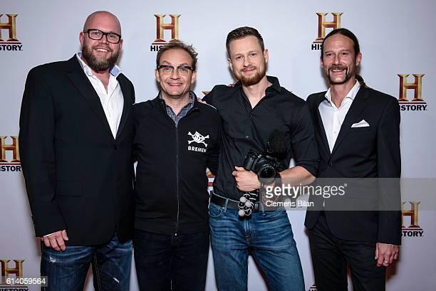Elmar Steege Wigald Boning Erik Waechtler and Fritz Meinecke attend the preview screening of the new series 'Wigald Fritz Die Geschichtsjaeger' by...