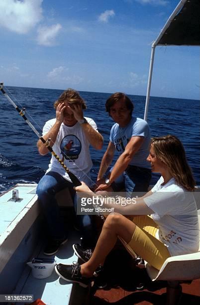 Elmar Wepper Fritz Wepper Freundin Prinzessin Angela von Hohenzollern Urlaub auf Barbados Barbados Karibik Meer Angel angeln Boot Schiff Schauspieler...