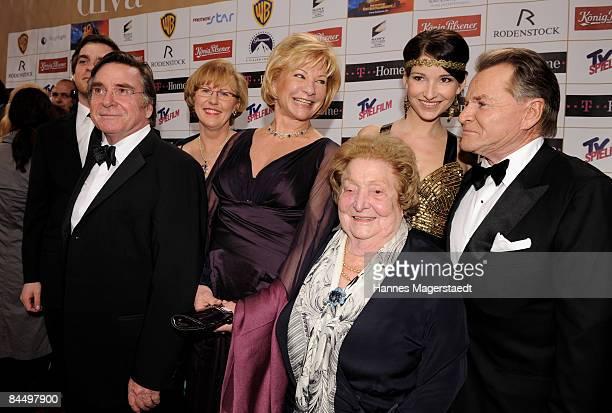 Elmar Wepper his wife Anita Angela Wepper Wilhelmine Wepper Sophie Wepper and Fritz Wepper attend the Diva Entertainment Award at the Hotel...