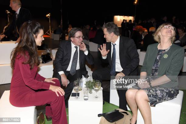 Elmar Wepper his wife Anita Schlierf Timothy Peach and his wife Nicola Tiggeler attend the 23th Annual Jose Carreras Gala on December 14 2017 in...