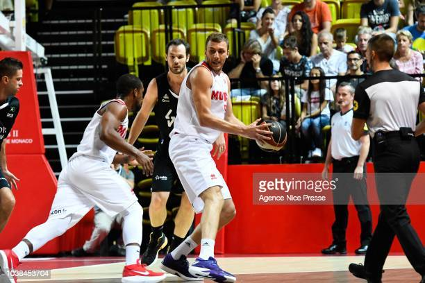 Sasa Filipovski head coach of Monaco during the Jeep Elite match between Monaco and LDLC ASVEL on September 23 2018 in Monaco Monaco