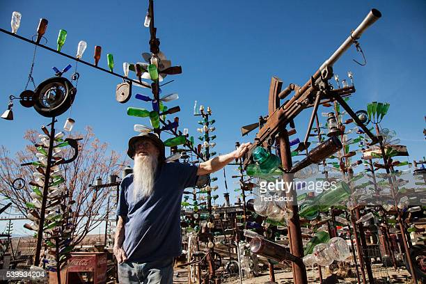 Elmer owner of the Bottle Tree Farm US Route 66 also known as the Mother Road in the Mojave desert of California The two major connector cites in the...