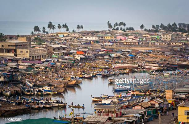 elmina fishing harbor - ghana stock pictures, royalty-free photos & images