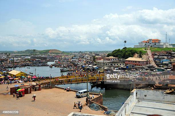 elmina, ghana - town and creek - ghana stock pictures, royalty-free photos & images
