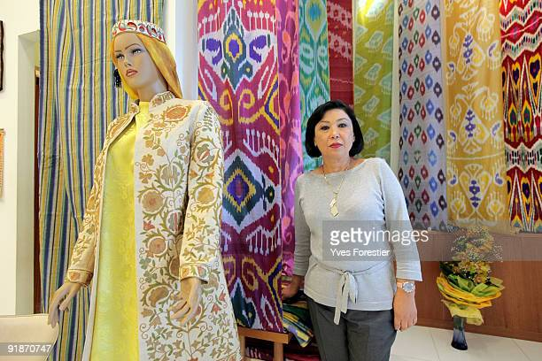 Elmira Akhmedova director of The Center of National Arts poses on October 13 2009 in Tashkent Uzbekistan