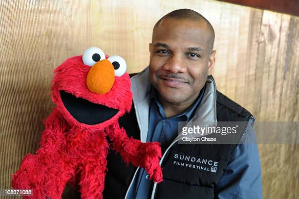 Elmo and actor Kevin Clash attends the Being Elmo A Puppeteers Journey Salt Lake City Q A during the 2011 Sundance Film Festival on January 26 2011...
