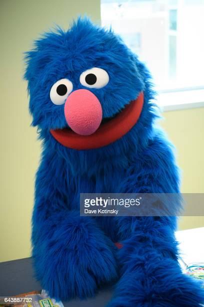 Elmo And Grover From Sesame Street Live Visit The Children Of Joseph M. Sanzari Children's Hospitall on February 22, 2017 in Hackensack, New Jersey