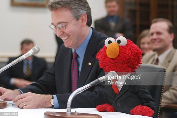 Elmo from Sesame Street makes his first appearence on Captiol Hill before the House Appropriations Subcommittee on Labor Health and Human Services...