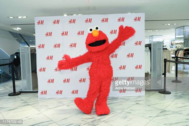 Elmo greets guests during HM x Sesame Street at HM Flagship Fifth Avenue Store on September 14 2019 in New York City