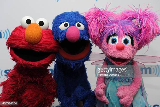 Elmo, Grover and Abby Cadabby of Sesame Street visit at SiriusXM Studios on September 12, 2014 in New York City.