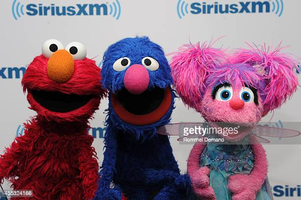 Elmo Grover and Abby Cadabby of Sesame Street visit at SiriusXM Studios on September 12 2014 in New York City