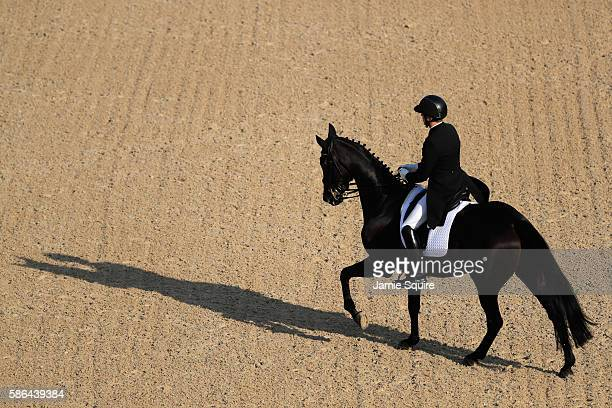 Elmo Jankari of Finland riding Duchess Desiree competes in the Individual Dressage event on Day 1 of the Rio 2016 Olympic Games at the Olympic...