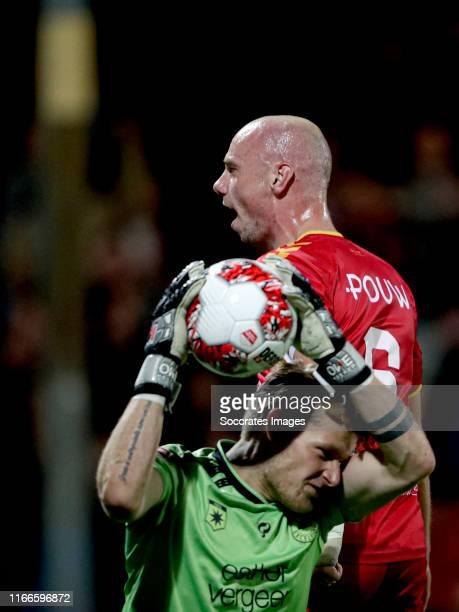 Elmo Lieftink of Go Ahead Eagles celebrates 10 during the Dutch Keuken Kampioen Divisie match between Go Ahead Eagles v Excelsior at the De...