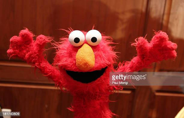 Elmo on display at a special National Museum of American History ceremony to receive more than 20 puppets and props from the Henson family on the...