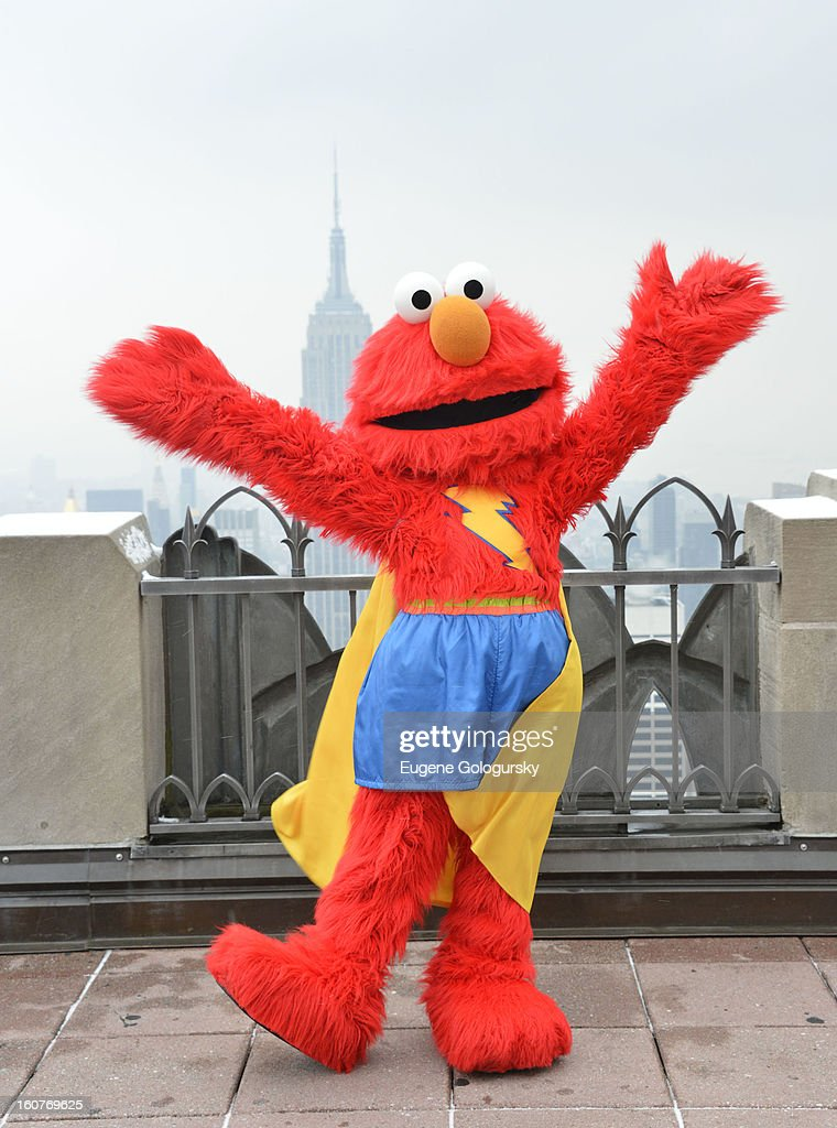 Elmo visits at Top of the Rock Observation Deck at Rockefeller Center on February 5, 2013 in New York City.