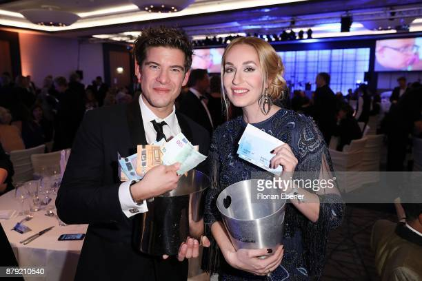 Elna Margret Zu Bentheim and Philipp Danne attend the charity event Dolphin's Night at InterContinental Hotel on November 25 2017 in Duesseldorf...