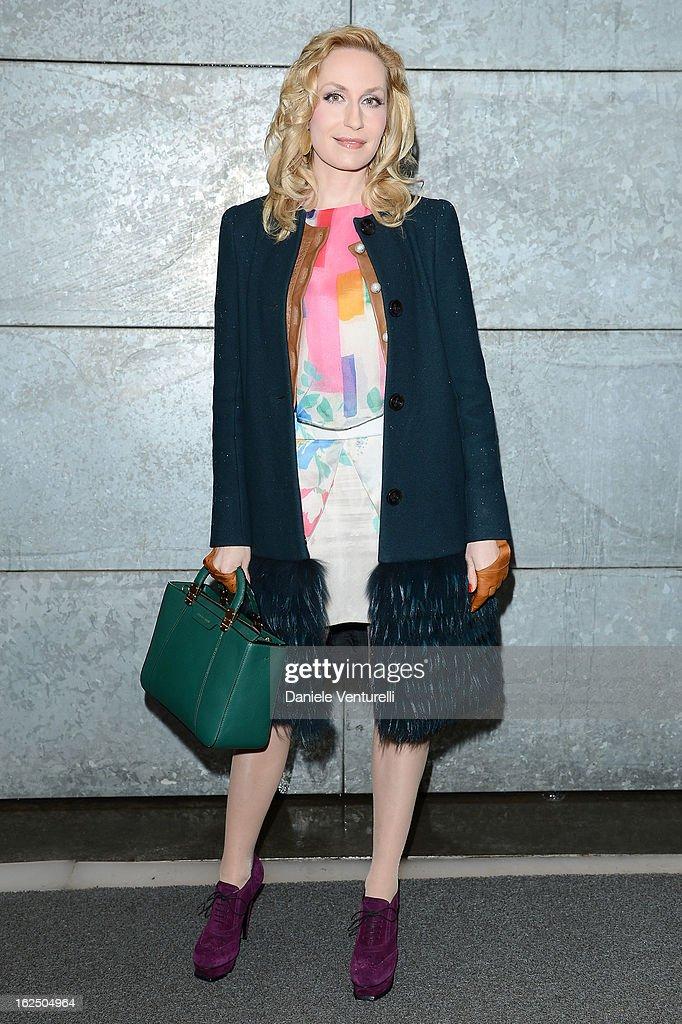 Elna Margret zu Bentheim attends the Emporio Armani fashion show during Milan Fashion Week Womenswear Fall/Winter 2013/14 on February 24, 2013 in Milan, Italy.
