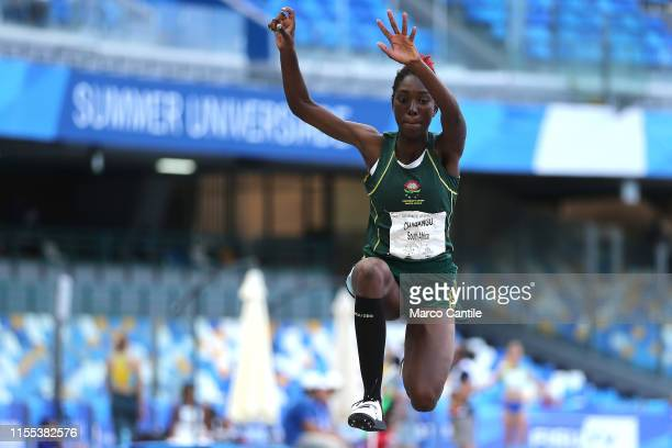 Elna Zinzi Chabangua of South Africa during the final stages of athletics for the 2019 Universiade in the specialty of Triple Jump at San Paolo...