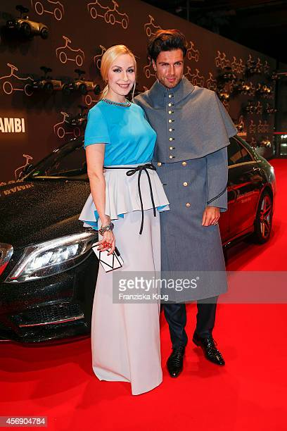ElnaMarget zu Bentheim und Steinfurt and Andre Borchers attend the Tribute To Bambi 2014 on September 25 2014 in Berlin Germany