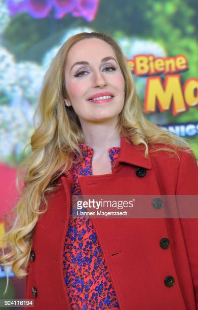 ElnaMargret Prinzessin zu Bentheim und Steinfurt attends the premiere of 'Biene Maja Die Honigspiele' at Mathaeser Filmpalast on February 25 2018 in...