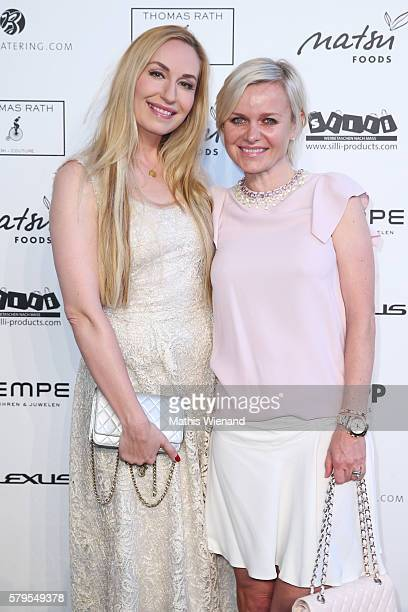 ElnaMargret zu Bentheim and Barbara Sturm attend the Thomas Rath show during Platform Fashion July 2016 at Areal Boehler on July 24 2016 in...