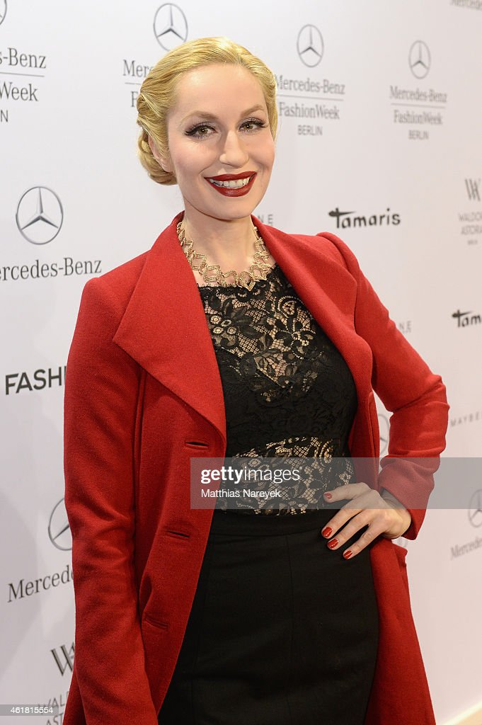 Lena Hoschek Arrivals - Mercedes-Benz Fashion Week Berlin Autumn/Winter 2015/16