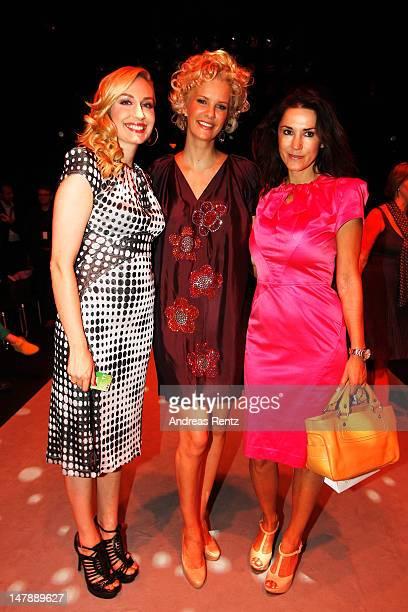 ElnaMargret zu Bentheim Monica Ivancan and Mariella Ahrens attend in the front row of the Unrath Strano show at the MercedesBenz Fashion Week...