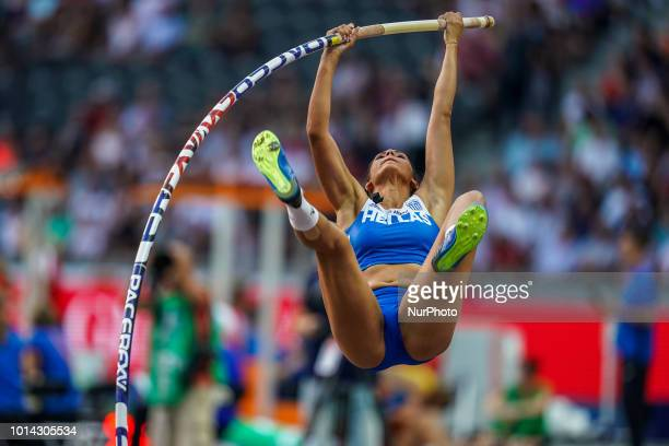 EléniKlaoúdia Pólak of  Greece during pole vault final for women at the Olympic Stadium in Berlin at the European Athletics Championship on August 9...