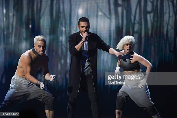 Elnur Huseynov of Azerbaijan performs on stage during rehearsals for the second Semi Final of the Eurovision Song Contest 2015 on May 20 2015 in...