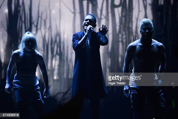 Elnur Huseynov of Azerbaijan performs on stage during the second Semi Final of the Eurovision Song Contest 2015 on May 21, 2015 in Vienna, Austria....