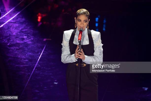 Elodie at the third evening of the 70 Sanremo Music Festival Sanremo February 6th 2020