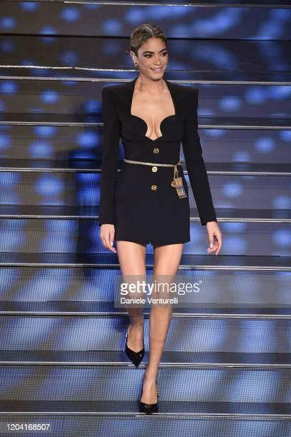 Elodie attends the 70° Festival di Sanremo at Teatro Ariston on February 04 2020 in Sanremo Italy
